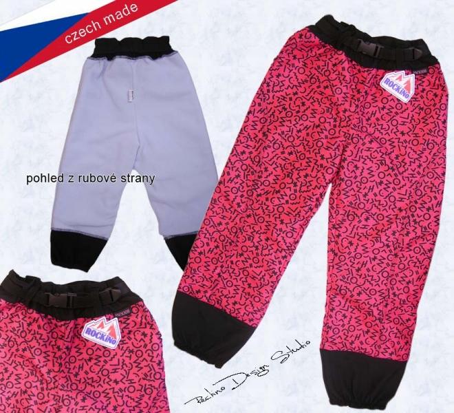 4f022b687 Detské nepremokavé zateplené nohavice ROCKINO veľ.104,110,116,122,128 vzor  8123 - ružové