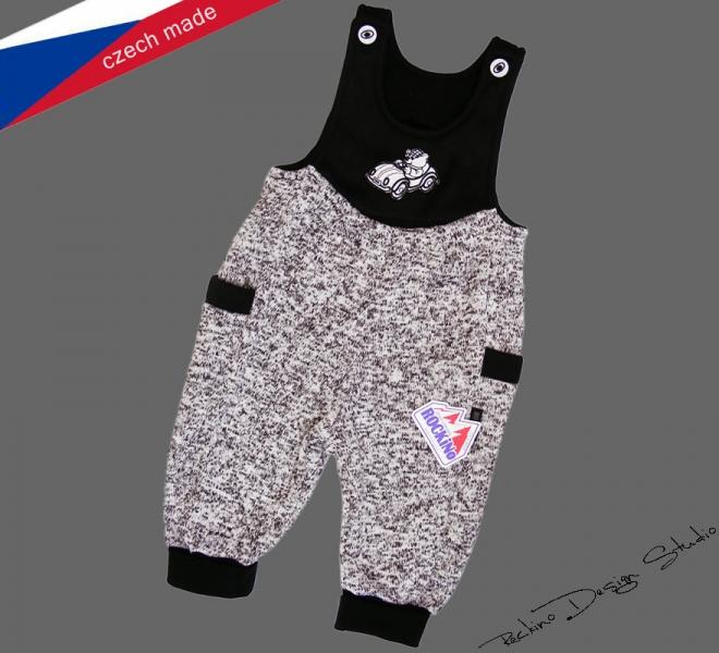 2226d43a1e09 Detské teplé nohavice s trakmi ROCKINO veľ. 74