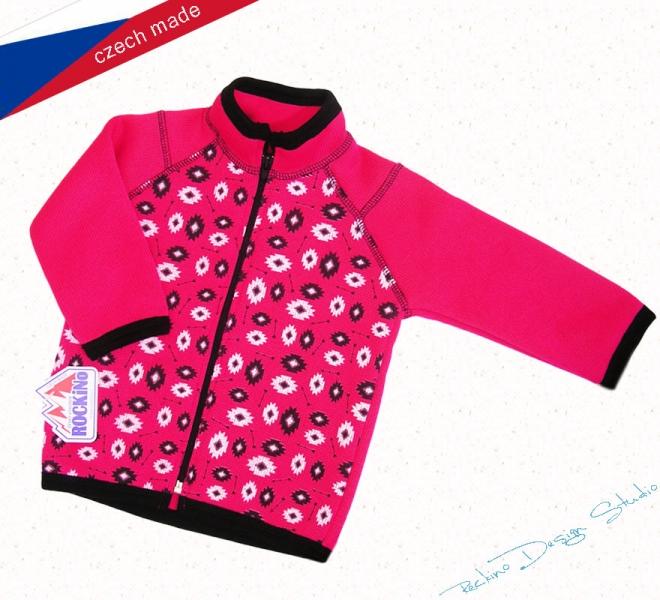 c2a7b9c96 Detský sveter ROCKINO vzor 8114 veľ. 98,104,110 - ružový neón ...
